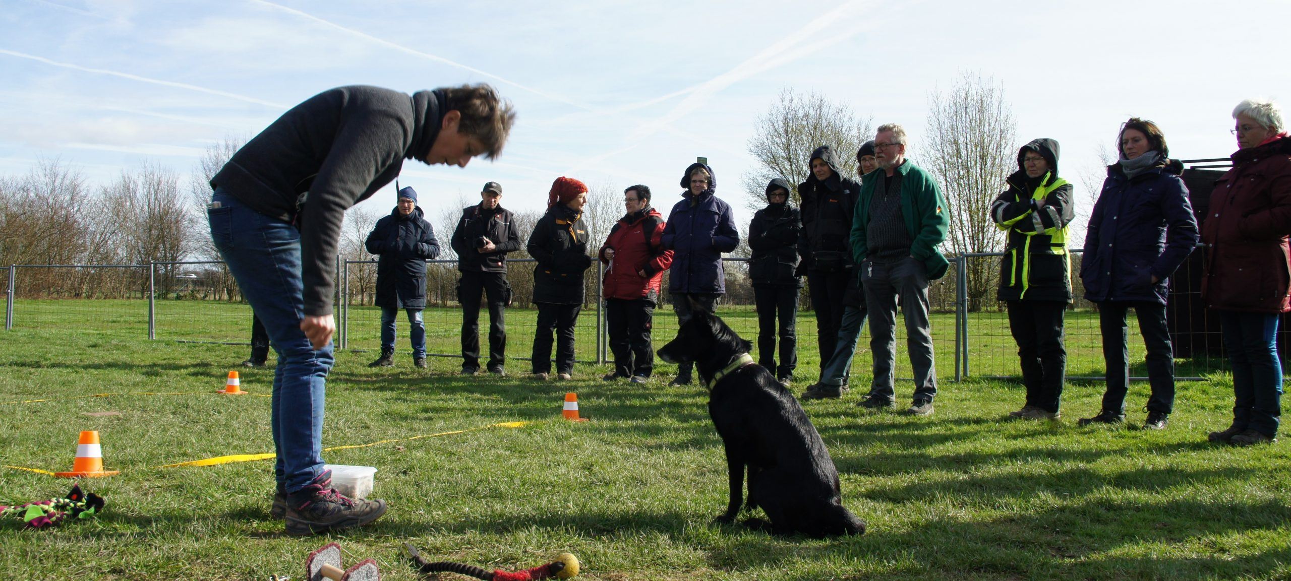 Obedience Seminar mit Brigitte Lange beim Team Mark 4