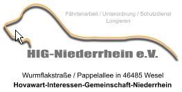Seminar-Ankündigung der ÜG HIG-Niederrhein e.V. | 19./20.10.2019 1