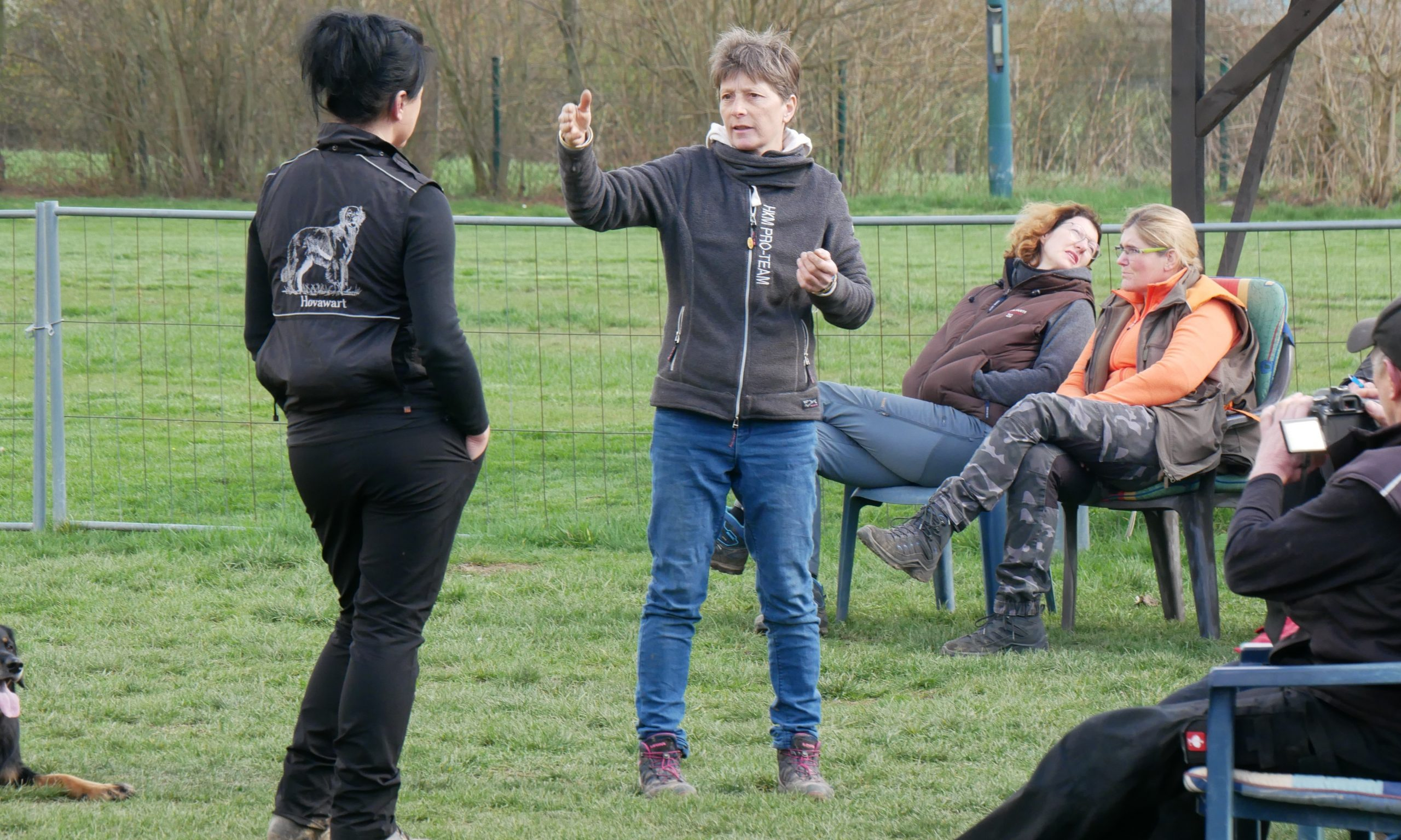 Obedience Seminar mit Brigitte Lange beim Team Mark 1