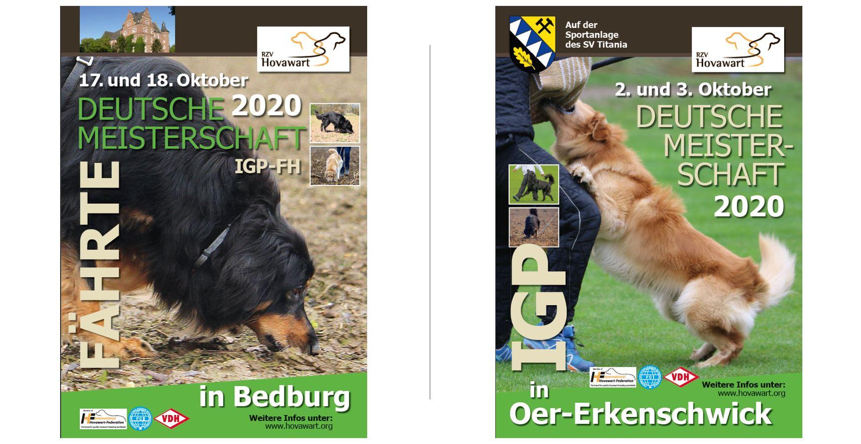 Absage Deutsche Meisterschaften IGP und IGP-FH 1